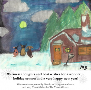 Artwork painted by Angel, a 1st grade student at HVS