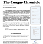 Cougar Chronicle Special Quarantine Edition, May 2020